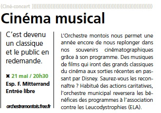 Article M2M 17 concert de printemps 2011