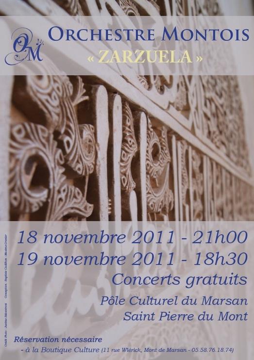 Affiche Sainte Cécile 2011