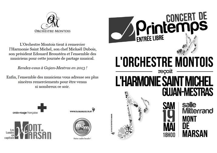 Programme concert de printemps 2012 extérieur
