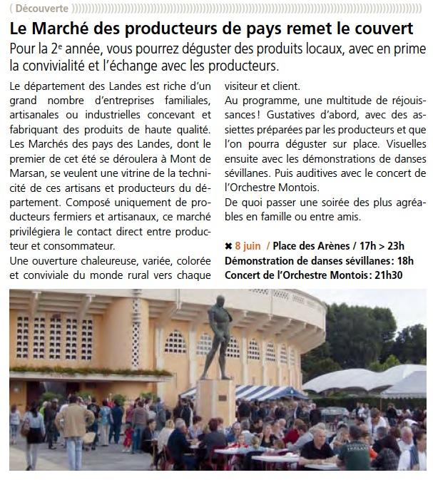 Article Marché des producteurs 2012 - M2M 22
