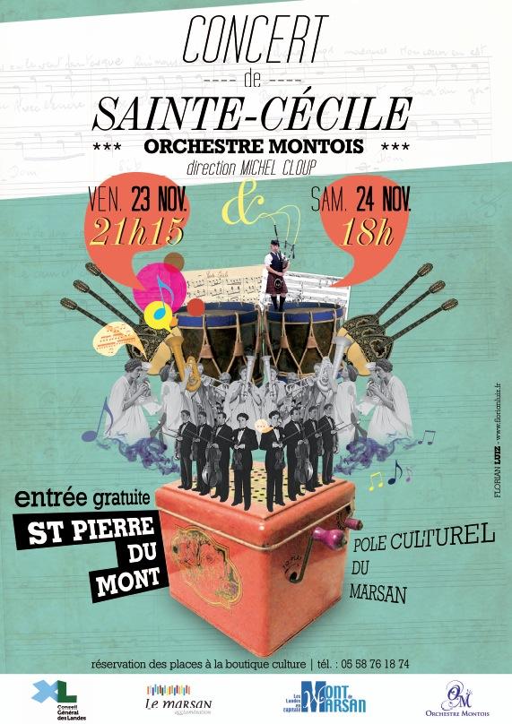 Affiche Sainte Cécile 2012
