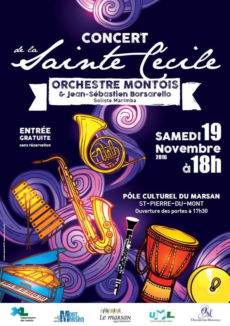 Affiche Concert affiche du concert de sainte-cécile 2016 - orchestre montois